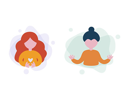 Illustration set   Иллюстрации для аватарок
