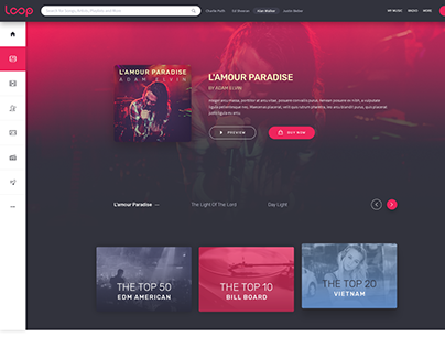 LOOP - Colorful Music- Premium PSD Template