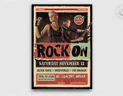 Indie Rock Flyer Template V4