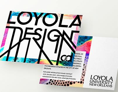 Postcard Design for Loyola Design Program