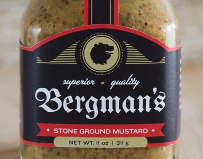 Bergman's Mustard, Package Design