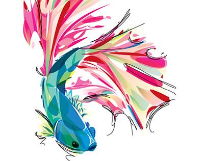 Watercolors vector