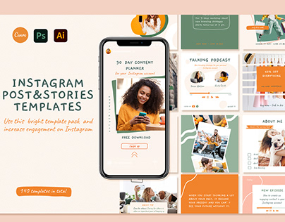 Instagram Post and Story templates