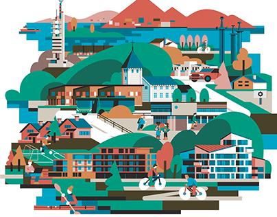 Stavanger Utvikling – Brand Illustrations