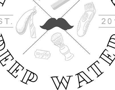 Deep Water Logo Barbearia