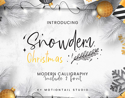 Snowdem Christmas font