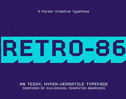 Retro 86 - Techy Computer Typeface
