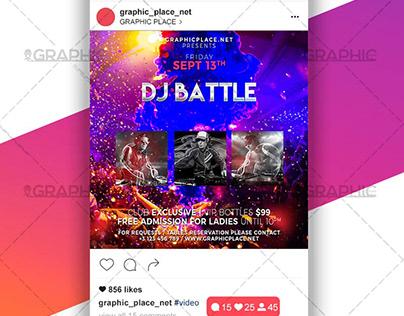Dj Battle Night – Animated Flyer PSD Template