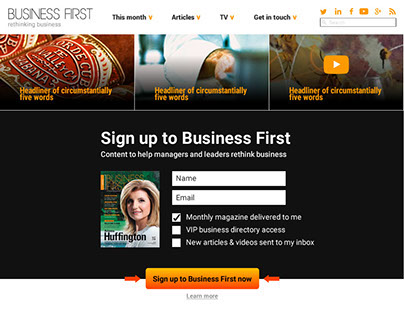 Website redesign - Business First Magazine