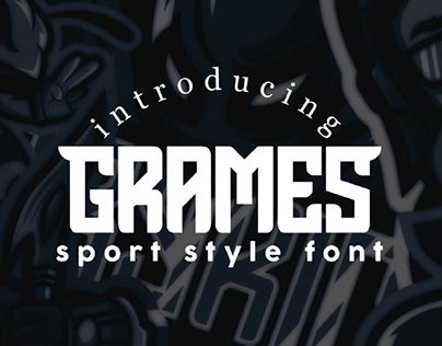 GRAMES - FREE SPORT STYLE DISPLAY FONT