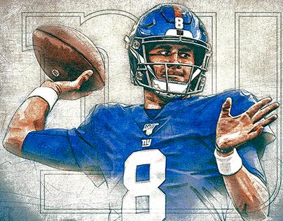 Daniel Jones New York Giants graphic