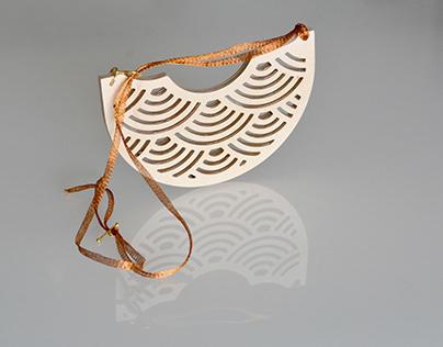 Cnc cut Wooden Pendant Necklace