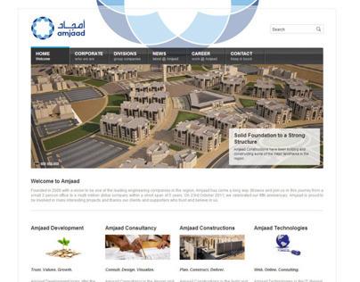 Amjaad Group Corporate Website