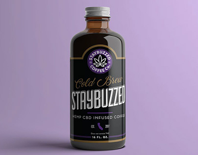 Staybuzzed Cold Brew CBD Infused Coffee Label Design