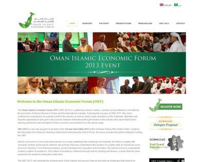Oman Islamic Economic Forum - English / Arabic website