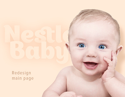 Redesign main page of Nestle Baby