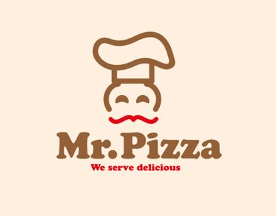 Mr.Pizza Restaurant identity