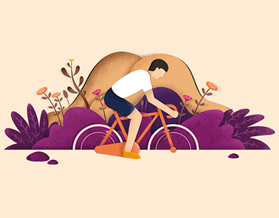 "Illustration ""Riding a bicycle"""