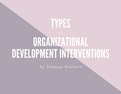 Tanaya Walters | Org Development Interventions