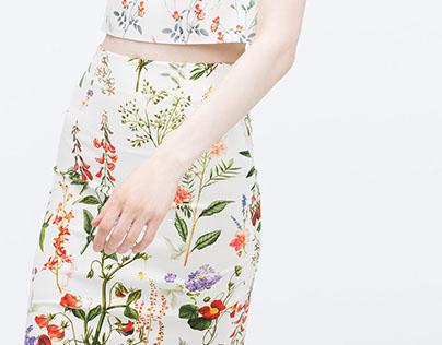 ZARA Woman - skirt print