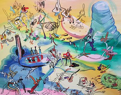 Acryl paintings on canvas