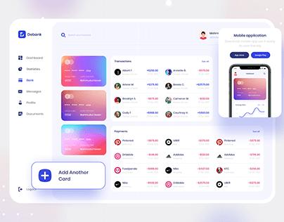 Debank | Bank Dashboard Design