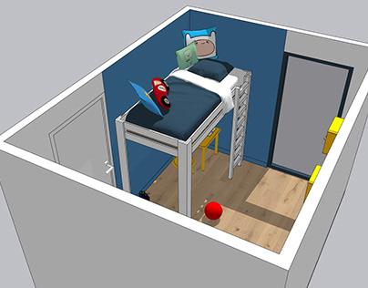 Simulation 3D - Chambre de Rafaël