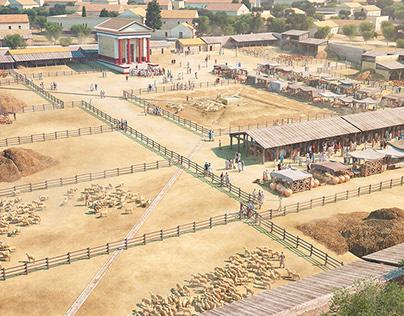 Forum pecuarium of Confloenta 2nd century C.E.