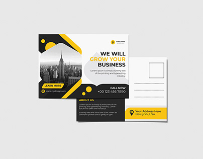 Corporate Modern Postcard design