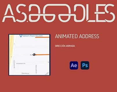 animated address / dirección animada