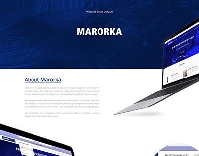 Marorka website redesign