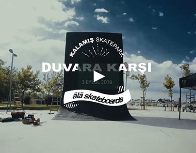 Ala Skateboards Duvara Karşı Kaykay Yarışması