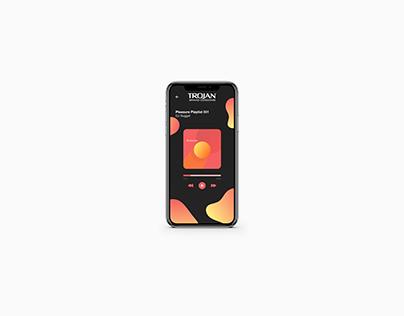 Conceptual UI/UX for Trojan Mobile App