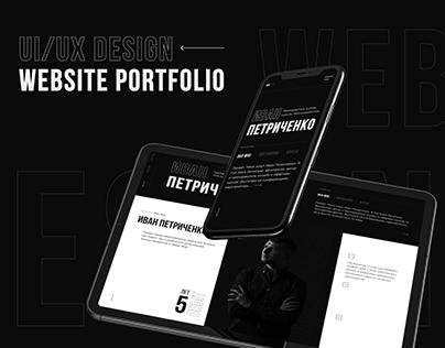 UI/UX Website Portfolio Design. Interaction. Parallax.