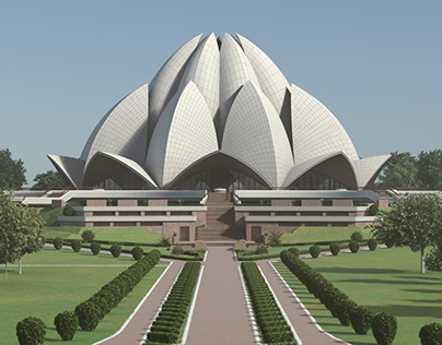 Lotus Temple digital flythrough