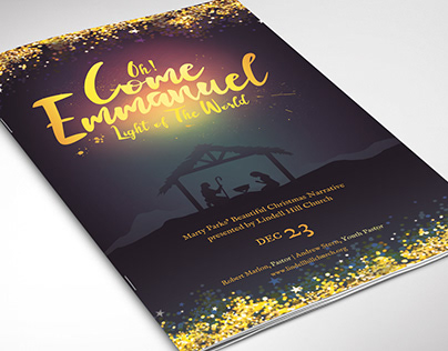 Emmanuel Christmas Program Word Publisher Template