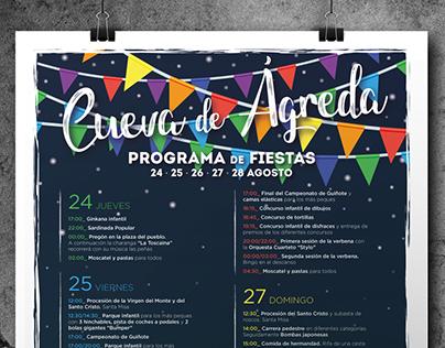 Cartel Fiestas Patronales de Cueva de Ágreda 2017
