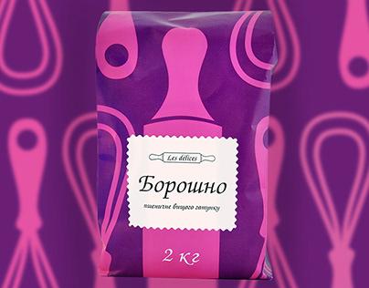 Glamorous design for flour package.