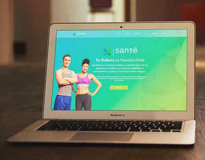 Santé Clinical Beauty Website