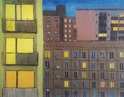 Monika Trzupek: Blocks in paintings