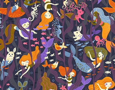 Happy Mermaids Pattern