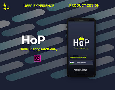 HOP - CARPOOLING - APPLICATION - UI/UX Design