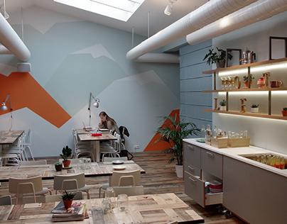 Loft hostel - Interior design