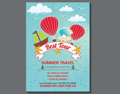 Flyer Design [ Travel - Vacation - Tour - Holiday ]