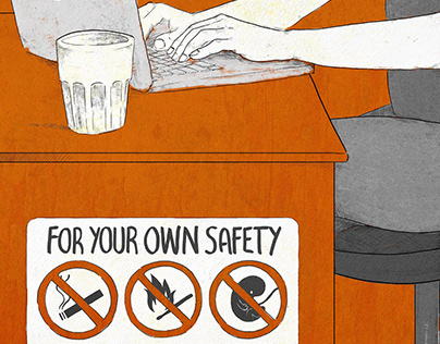 For your own safety | Poster illustration