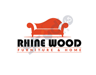 RHINE WOOD FURNITURE AND HOME / LOGO