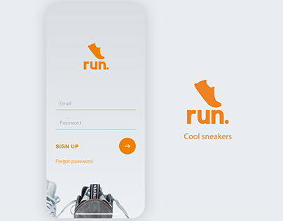Run shoes inventory/shopping app concept