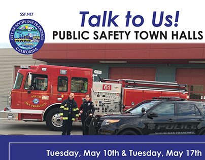 City of South San Francisco | Town Hall Mailer