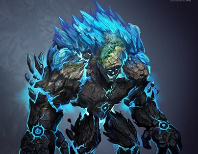 Earth-ice elemental golem