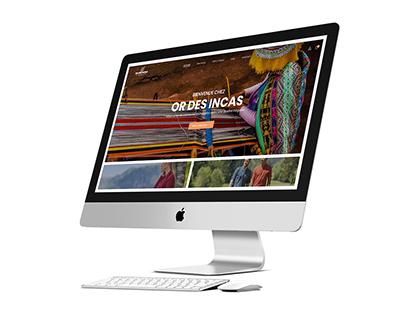 OR DES INCAS - WEBSITE WEBDESIGN
